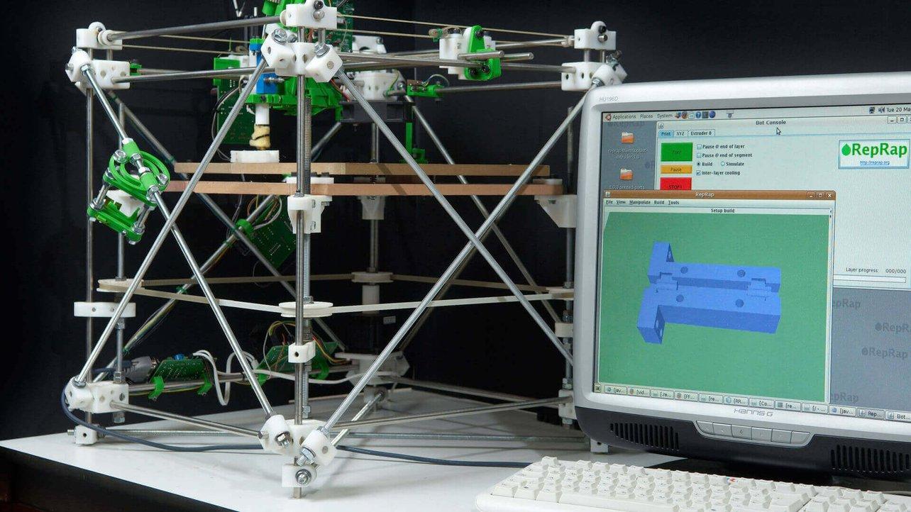 Primeira Impressora 3D do Projeto RepRap