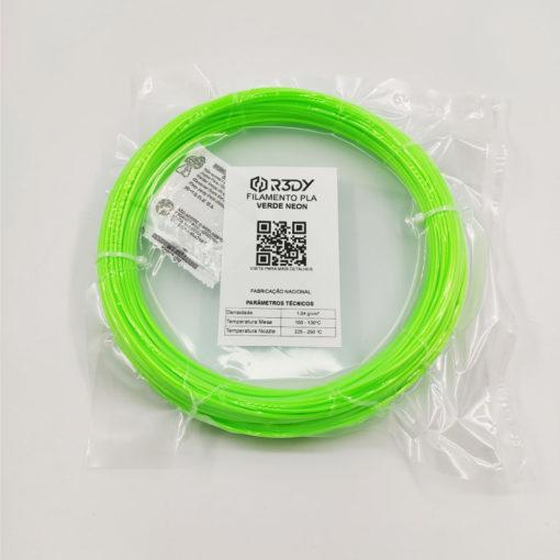 Filamento PLA Verde Neon 1,75mm - 100 gramas